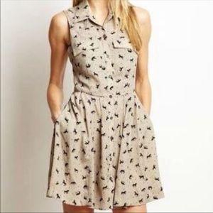 BCBG horse print dress size 0